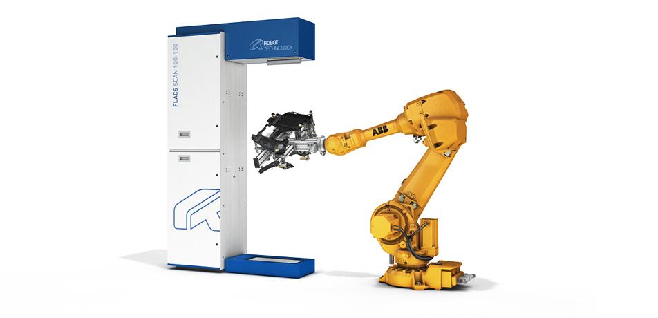 Laser Cutting Station Flacs Scan 100 Robot Technology